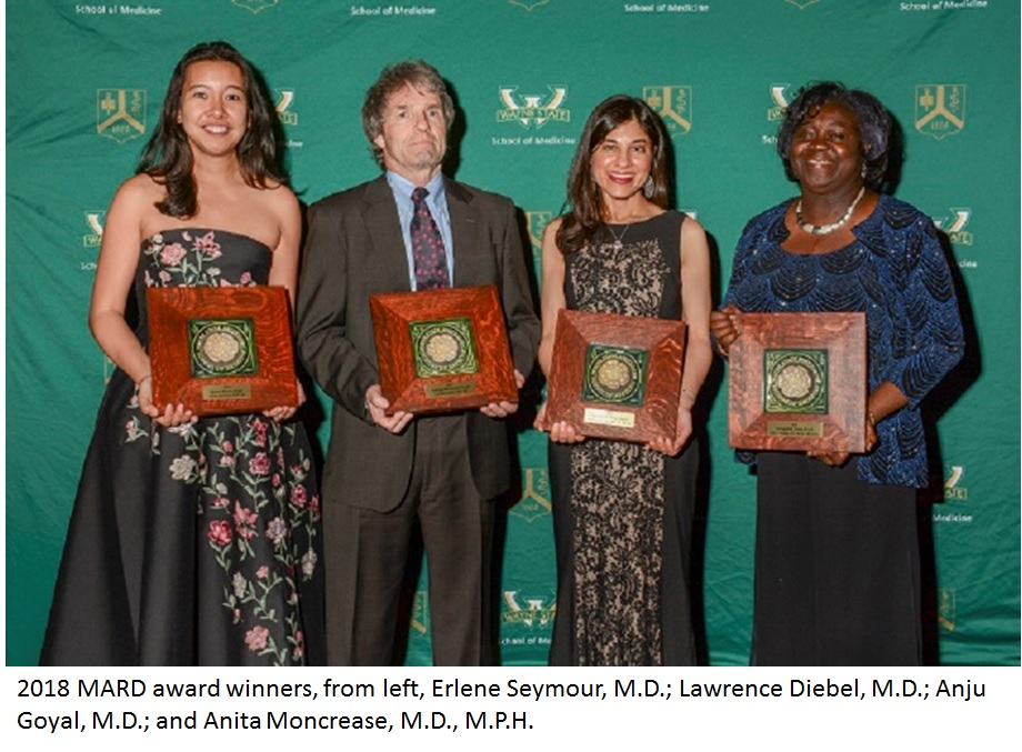 Anju Goyal, M.D. honored by The Wayne State University School of Medicine Alumni Association